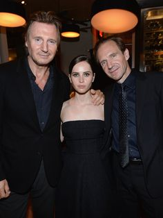Spotted: Ralph Fiennes, Felicity Jones + Liam Neeson at the Invisible Woman party. #TIFF13 #greygoose