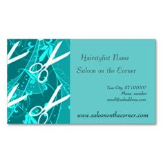 Teaching english language advertising cards business card teal pastel retro fashion fantasy scissors appointment card teacher business reheart Image collections