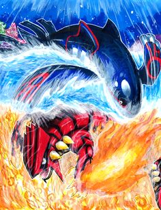 Kyogre vs Groudon - Matsuyama Takeshi