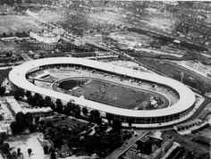 White City Stadium with the estate under construction, 1930s