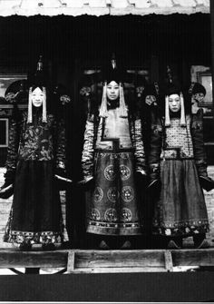 Mongolian Women in Their Traditional Costumes (13)
