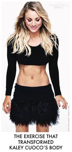 The exercise that totally transformed Kaley Cuoco's body, just look at that toned and tight belly!