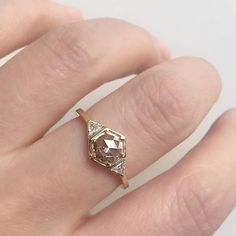 Vale Jewelry Vapor Ring with rose cut champagne diamond center