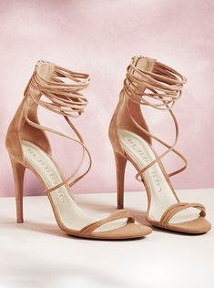 Feminine skinny strap sandals in muted tones from Burberry for S/S14