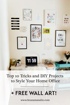 10 Top Tricks and DIY Projects for your Home Office