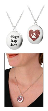 Always In My Heart Paw Necklace at The Animal Rescue Site