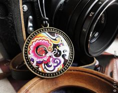 Abstract colorful necklace by CitrusCat on Etsy