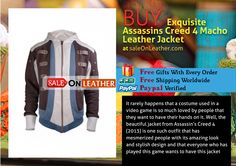 EXQUISITE ASSASSINS CREED 4 MACHO LEATHER JACKET
