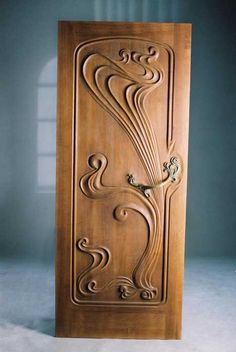 Wooden Main Door Design, Room Door Design, Door Design Interior, House Doors, Room Doors, Wood Front Doors, Wooden Doors, Art Nouveau Design, Entrance Doors