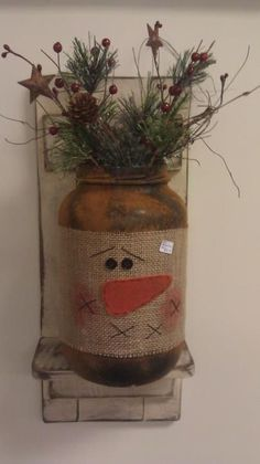 Snowman mason jar craft More