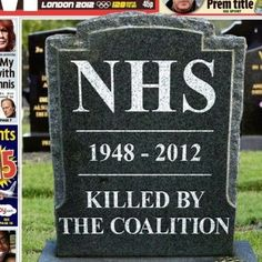 RIP NHS...   http://mobile.twitter.com/HuwLewis/status/182385646550261762?photo=
