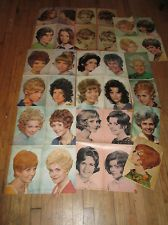 Vintage Hair Style Poster for Beauty Shop. With How to Guide. 1960's Posters