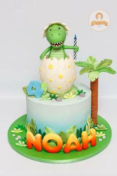 The Sweetery Cakes - amalia Dinosaur First Birthday, 3rd Birthday Cakes, Baby Birthday, Birthday Ideas, Dinosaur Cakes For Boys, Fete Laurent, Dinasour Cake, Dino Cake, Cute Cakes
