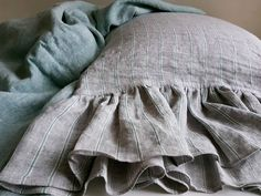 Twin Bed Sets With Comforter Boho Pillows, Linen Pillows, Linen Bedding, Bed Linens, Ruffle Pillow, Pillow Shams, Pillow Cases, Best Linen Sheets, Bed Sheets