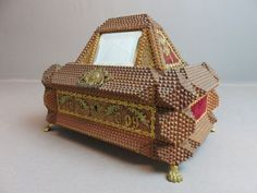 Footed Tramp art Jewelry Box,  Pyramide Shape,  1909