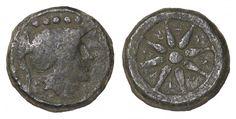 Greek coin - APULIA LUCERIA 211-200 BC. QUINCUNX