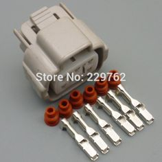 Free shipping 50sets 6 pin 6Way car electric plug Auto waterproof wire connectors socket for car,bus,motor,truck 6189-0323