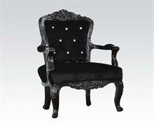 Black Frame/Black PU Accent Chair