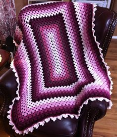 Window Crochet Afghan Stained Glass