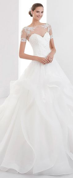 Fashionable Tulle Bateau Neckline A-Line Wedding Dress With Beaded Lace Appliques & Ruffles