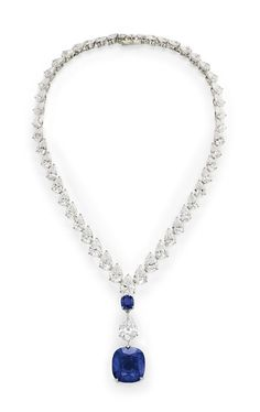 GABRIELLE'S AMAZING FANTASY CLOSET | A Magnificent Sapphire and Diamond Necklace, by Cartier