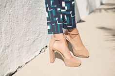 it's banana » STYLE ME GRASIE // Printed pants, chambray top, nude platform pumps. // #ootd #streetstyle #blogger #style