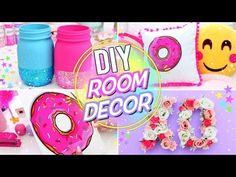 DIY BRIGHT & FUN ROOM DECOR! Pinterest Room Decor for Spring and Summer! - YouTube