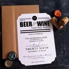Beer & Wine tasting invite
