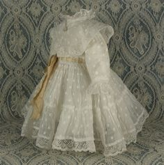Wonderful Antique French Dress for JUMEAU, BRU or other French Bebe Doll circa 1880s