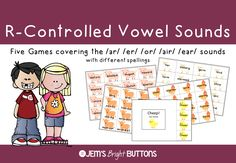 Your students will have lots of fun practicing to read words with the r-controlled vowel sounds using these five games!