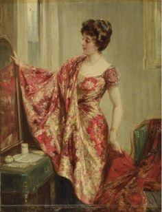 'The New Dress' byTalbot Hughes (British, 1869-1942).