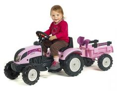 pink tractor ride on toy