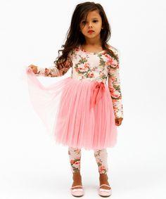 Designer Kidz Light Pink Floral Tutu Dress - Toddler & Girls | zulily