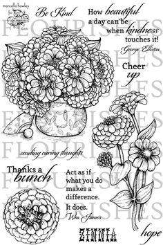 flourish zinnias