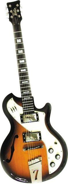 ITALIA Mondial II Semi-Hollow Electric Guitar Tobacco Sunburst | Musician's Friend