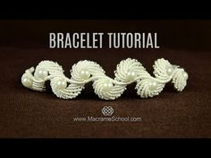 Macramé Seashell Bracelet TUTORIAL in Vintage Style - YouTube