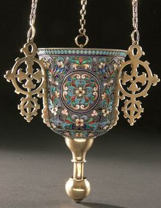 1892-1899 Great Varieties Enamel Salt Cellar With The Proverb Silver Russian Empire Gilding