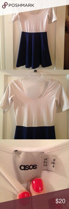 Asos dress Excellent condition and very cute. Can be dressed up or down!! Simple and stylish. Asos Dresses Mini