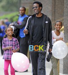 Comedian Chris Rock & daughters