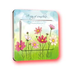 1 PCS New Style Home Decoration Switch Muurstickers Home Decor Kids Wallpaper Flower Wall Appliques