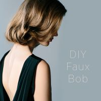 DIY Faux Bob Wedding Hairstyle | DIY Weddings | OnceWed.com