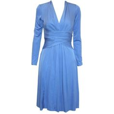 Ladies Issa blue V neck silk jersey dress ($335) ❤ liked on Polyvore featuring dresses, vestidos, beauxbatons, blue, long sleeve cocktail dresses, wrap dresses, v neck wrap dress, blue long sleeve dress and long sleeve wrap dress