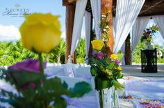 Everything about this gorgeous wedding scene from Secrets Maroma Beach Riviera Cancun is just perfect!