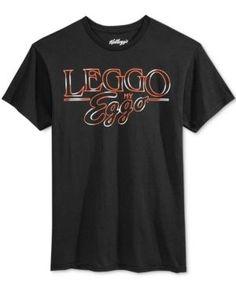Call Your Mother Men's Stranger Things Eggo Logo T-Shirt  - Black