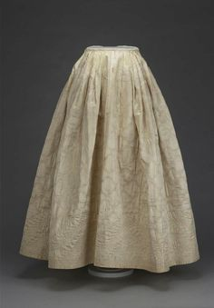 1750 quilted petticoat - beautiful