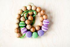Mommy Organic Teething necklace Nursing necklace  by kangarusha,