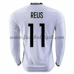 Günstige Fußballtrikots Deutschland Nationalmannschaft 2016 Reus 11 Heimtrikot Langarm
