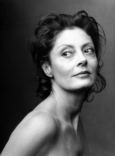 Susan Sarandon by Annie Leibovitz. I look forward to being older, when what you look like becomes less and less an issue and what you are is the point.