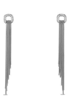 David+Yurman+'Chain'+Earrings+with+Diamonds+available+at+#Nordstrom