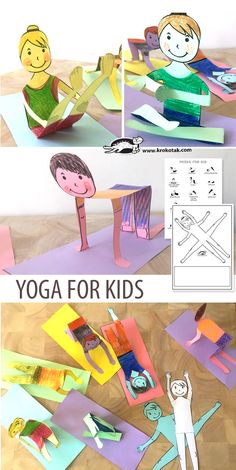 YOGA FOR KIDS: children activities, more than 2000 coloring pages Gross Motor Activities, Preschool Activities, Children Activities, Fun Crafts, Crafts For Kids, Paper Crafts, Yoga For Kids, Art For Kids, Projects For Kids